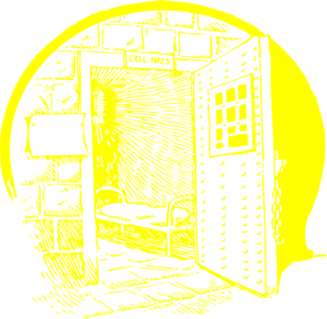 Yellow Jail Cell Clip Art