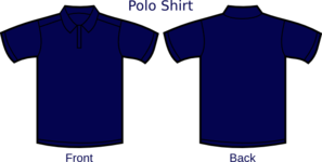 Navy Blue Polo Shirt Layout Clip Art