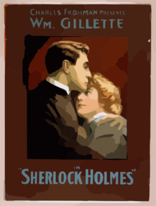 Charles Frohman Presents William Gillette In Sherlock Holmes Clip Art