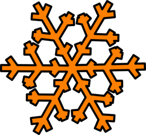 orange snowflake clip art at clker com vector clip art online rh clker com snowflake clipart vector snowflake clipart images