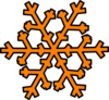 Orange Snowflake Clip Art