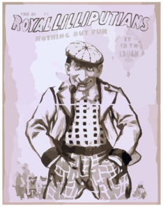 Royal Lilliputians The Big Event : Nothing But Fun : It Is To Laugh. Clip Art