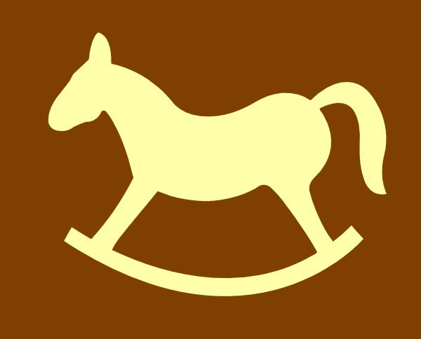 Tan Rocking Horse Clip Art at Clker.com - vector clip art online ...