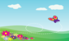 Hillside With Flowers Long Clip Art