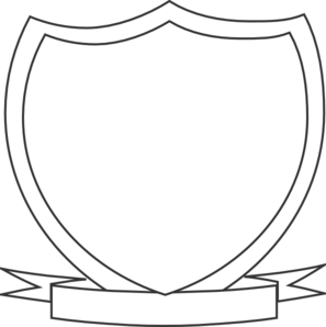 Blank Shield Template Clipart