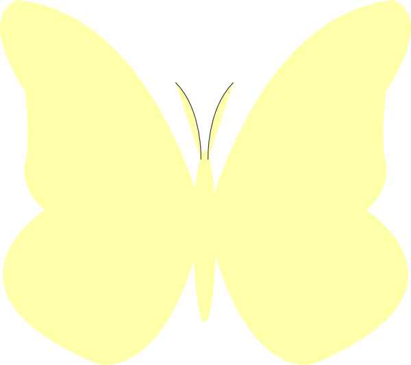 Bright Butterfly Yellow Clip Art at Clker.com - vector ... Yellow Butterfly Clipart