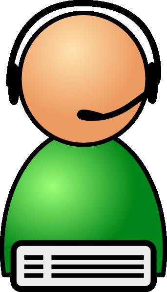 Line Art Help : Help line operator clip art at clker vector