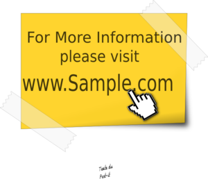 More Information Stickie Note Clip Art