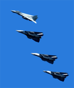 F-14dtomcats Fly Over The Deck Of Uss John C. Stennis (cvn 74) Clip Art