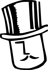 Cartoon Man Wearing Hat 2 Clip Art