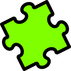 Lime Puzzle Piece Clip Art