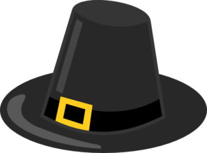 Pilgrim Hat With Black Band Clip Art