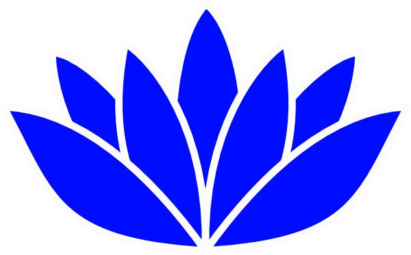 free blue lotus flower clip art - photo #2