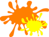 Orange And Yellow Splat 2 Clip Art
