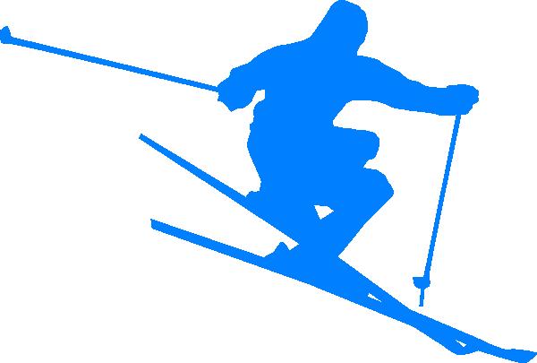 Ski-blue Clip Art at Clker.com - vector clip art online ...