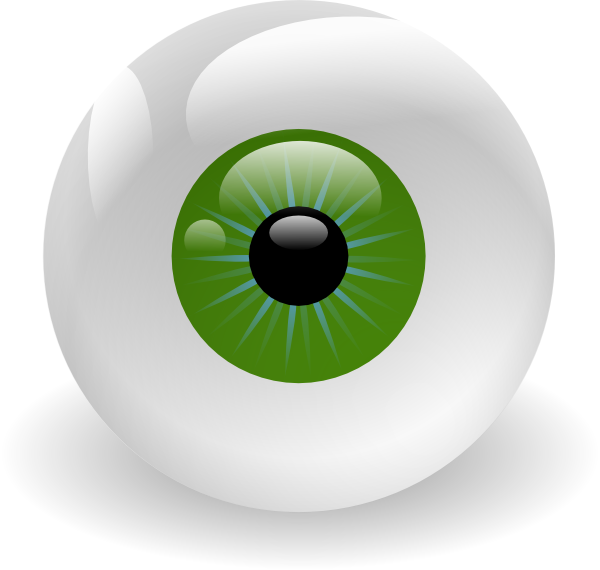 Green Eyeball Clip Art at Clker.com - vector clip art online, royalty ...