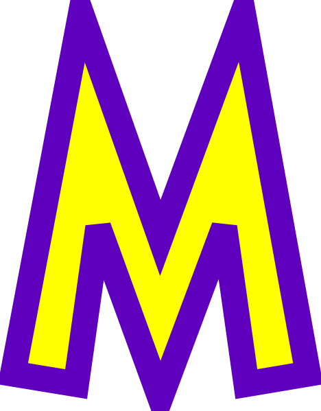 One Line Letter Art : M cartoon pictures