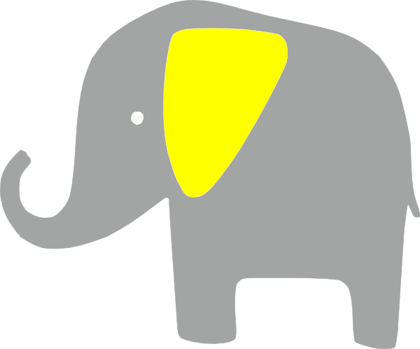 elefante amarillo clip art at clker com vector clip art class diagram interface