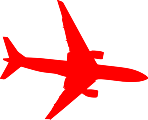 airplane red clip art at clker com vector clip art online royalty rh clker com free clipart airplane travel free clipart airplane with banner