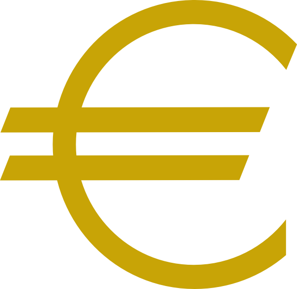 Currency Euro Gold Clip Art at Clker.com - vector clip art online ...