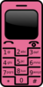 Pink Cell Phone Clip Art