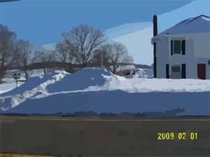 House With Snow Clip Art