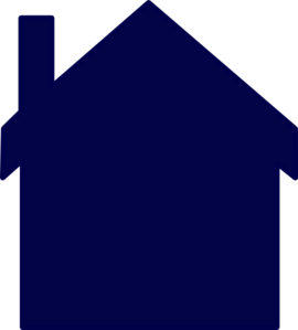 Navy Blue House Clip Art