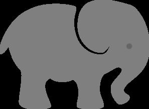 Gray Elephant Eye Clip Art at Clker.com - vector clip art ...