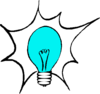 Blue Light Bulb (molly Bullock) Clip Art