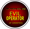 Warning Evil Operator (if Granted) Clip Art