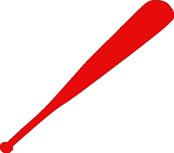 Red Baseball Bat Clip Art at Clker.com - vector clip art ...