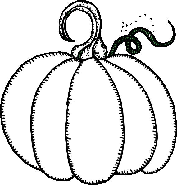 pumpkin clip art free black and white - photo #32