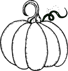 Best Pumpkin Clipart Black And White #1598 - Clipartion.com |Cartoon Black And White Pumkin