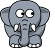 Elephant Looking Right Clip Art