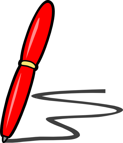 Red Pen Clip Art at Clker.c - vector clip art online, royalty free