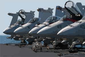 Five F/a-18c Hornets Assigned To Strike Fighter Squadron Twenty Five (vfa 25) And Armed With Aim-7  Sparrow   Air-to-air Missiles. Clip Art