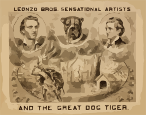 Leonzo Bros. Sensational Artists And The Great Dog, Tiger Clip Art