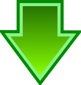Green Down Arrow Clip Art