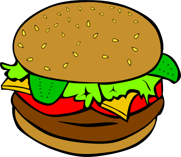 Hamburger Clip Art at Clker.com - vector clip art online, royalty free ...