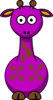 Purple Giraffe With 13 Dots- Fixed Nose Clip Art