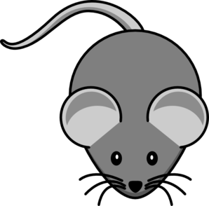 Simple Mouse Dark Grey Clip Art