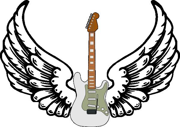 Guitar Designs Drawings Guitar With Wings Clipart
