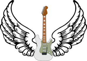 Guitar With Wings Clip Art
