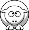 Sheep Cross Eyed Up Clip Art