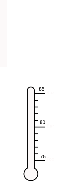 thermometer blank by  m clip art at clker com