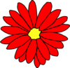 Red Daisy Flower 2 Clip Art