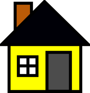 Yellow House 3 Clip Art