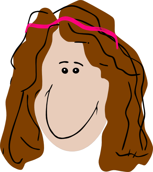clip art curly hair girl - photo #31
