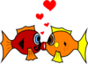 Kissing Fish Clip Art