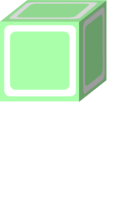 Plain A Block Green Clip Art